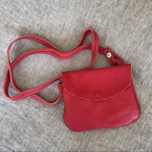 Handbags - Ibiz Roma Italian leather Red Crossbody Purse